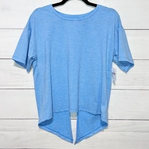 Gap Fit Breathe Open Back Stripe Tee